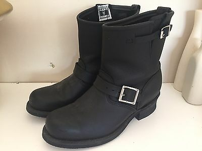 FRYE- Black Leather Engineer Boots-womens US 8