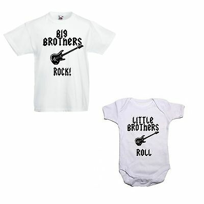 Big Brothers/Sisters Rock Little Brothers/Sisters Roll! T shirt/Vest Bundle