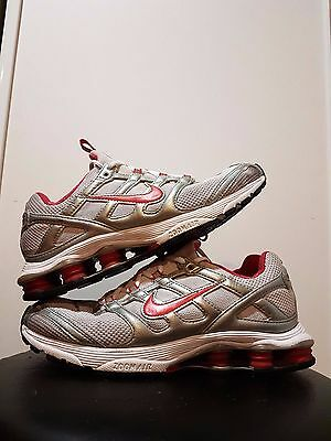 WOMENS NIKE ZOOM Shox 2 45 Trainers Grey Red Silver White Running ... d29e81e7f