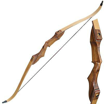 """Top Archery Take Down Recurve Bow Right Hand 60"""" 35-55lb Outdoor Hunting Target"""