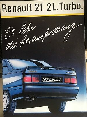 Car Brochure - 1988 Renault 21 Turbo - Germany