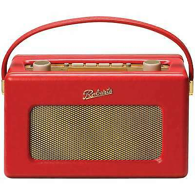 ROBERTS REVIVAL RD60 FM DAB RDS PORTABLE RADIO RETRO upto 120 hours - Red