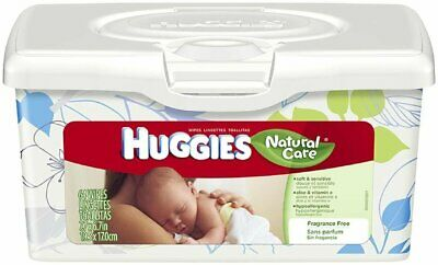Huggies Natural Care Unscented Baby Wipes Tub - 64 Count (Pack Of 8)