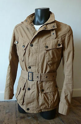 """Superb Barbour  """" Barbane """" Motorcycle  Jacket - Small  - Steve Mcqueen £215 Vgc"""