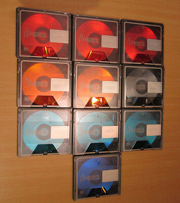 10 x gebrauchte Sony Color Collection 80 min.Minidisc  blank MD / mint condition