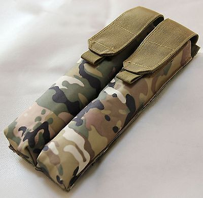 New Airsoft Tactical Nylon Molle Double P90 UMP Magazine Utility Pouch MC