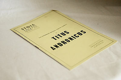 1950s STOLL Theatre programme: TITUS ANDRONICUS, Vivien Liegh, Laurence Olivier