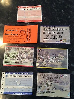 7 X Tickets V Australia From Tours 1994 Plus Great Britain, Wigan, Cumbria, Eng