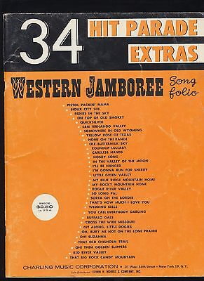 34 Hit Parade Extras Western Jamboree Sheet Music Piano & Vocal With Chords 1960
