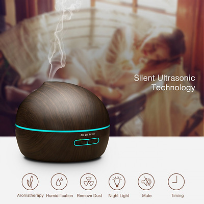 VicTsing Wood Grain Essential Oil Aroma Diffuser Whisper Quiet Cool Mist Ultraso
