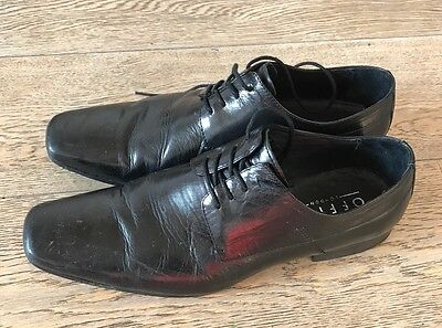 Office Mens Black Leather Formal Shoes - Size 9