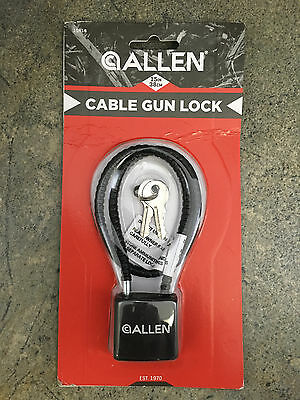 """Allen 15"""" Cable Lock 15414 - Black Two Keys Included"""