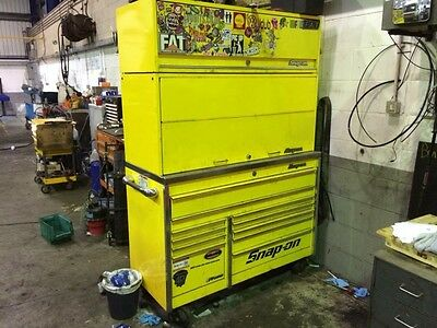 Snap On Krl Tool Box Roll Cab, Work Station, Overhead Cabinet Ultra Yellow P/x