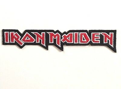 Iron Maiden Logo Embroidered Patch Iron on or Sew on