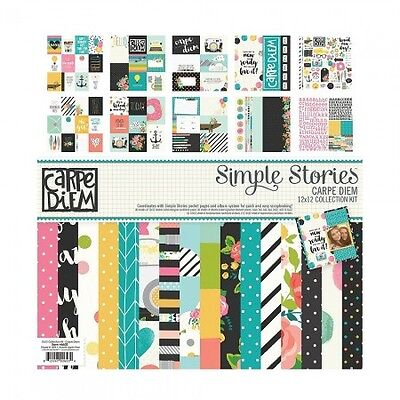 Carpe Diem Collection Kit - Simple Stories - Scrapbook - Papierset