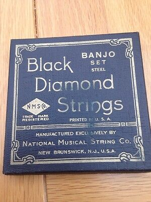 Black Diamond vintage Banjo Box And Assorted Strings