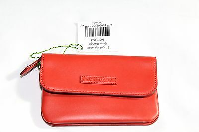 Vera Bradley Snap and Zip Case Burnt Orange Faux Leather  14575-231