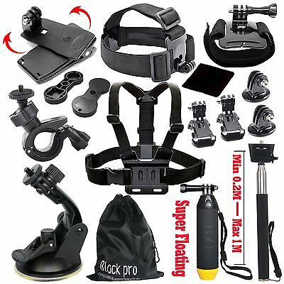 Basic Common Outdoor Sports Accesories Kit for GoPro Hero Session 5/4/3/2/1