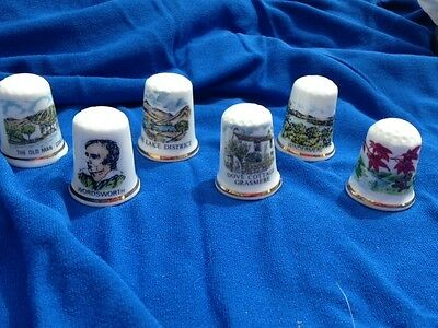 Lake District  Thimbles Collectables  X  6
