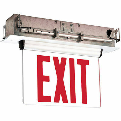 Barron Exitronix S903-WB-SR-RM-WH RED LED Exit sign
