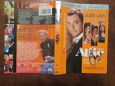 Signed Autographed DVD Cover Alfie - Jude Law & Sienna Miller