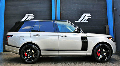 """2015 Land Rover Range Rover 4WD 4dr 2015 Land Rover Range HSE 22"""" Wheels Many Custom Features Financing Available"""