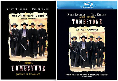 Tombstone (DVD or Blu-ray) • NEW • Kurt Russell, Bill Paxton, Val Kilmer