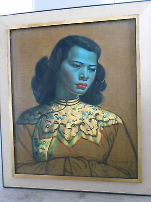 Chinese Girl by Tretchikoff,Original print in original frame 1960's
