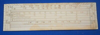 Antique Faux Ivory Scale Rule Draftsman Engineer English England