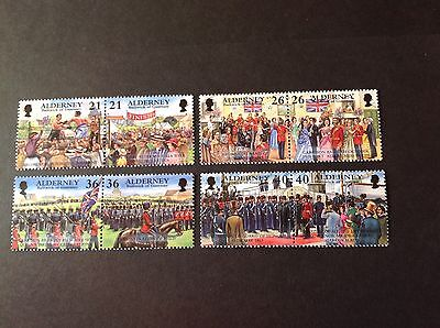 GB ALDERNEY 2000 GARRISON ISLAND 4th SERIES SG A154/160 FULL SET MNH
