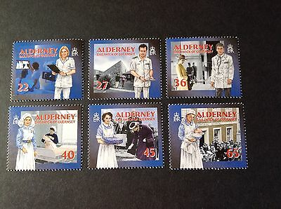 Gb Alderney 2001 Community Services Healthcare  Sg A163/168 Full Set Mnh