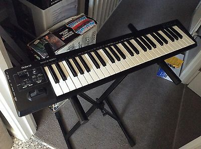 Roland A 500 Hardly Used Midi Keyboard With Stand.
