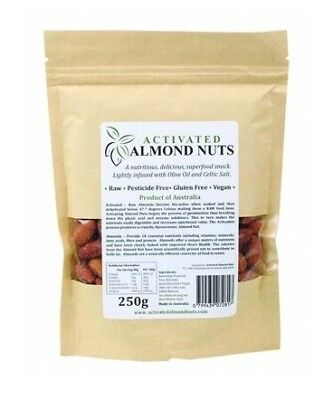 Activated Almond Nuts Raw Activated Salted Almonds 250g