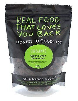 Honest To Goodness Organic Dried Cranberries 200g