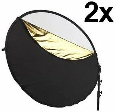 """Westcott Photo Basics 40"""" 5-in-1 Collapsible Reflector, 2 Pack."""