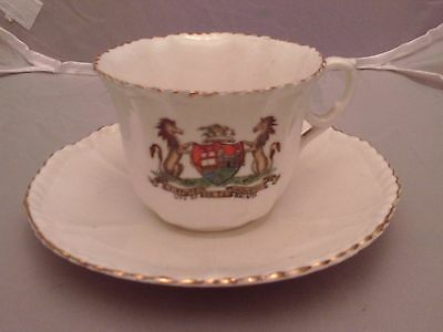 Arcadian crested china tea cup and saucer Bristol City