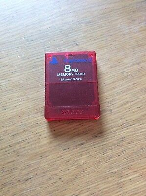 Official  Red Transparent  Sony Ps2 8mb Memory Card