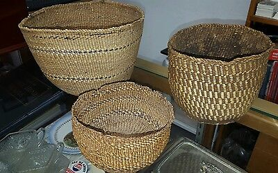 Three Klamath County Native Baskets L@@k.