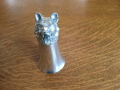 Pewter Stirrup Cup - Wolf