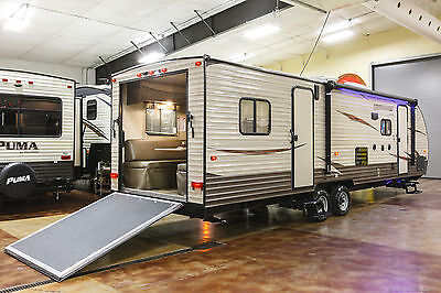 New 2017 27RR Limited Light Lite Slide Out Toy Hauler Travel Trailer Never Used