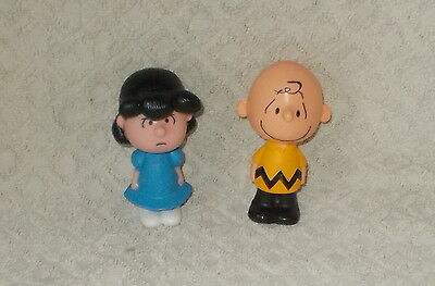 """Two Official Very Collectable """"Snoopy"""" Solid Talking Plastic Figures"""