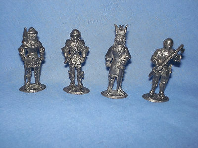 4 Pewter Soldiers