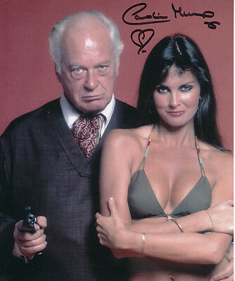 Caroline Munro SIGNED photo - J861 - James Bond