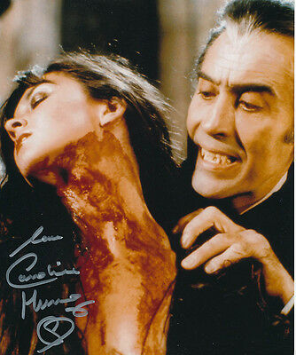 Caroline Munro SIGNED photo - J867 - Dracula A.D. 1972