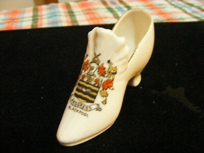 Crested China Shoe - BLACKPOOL by Gemma
