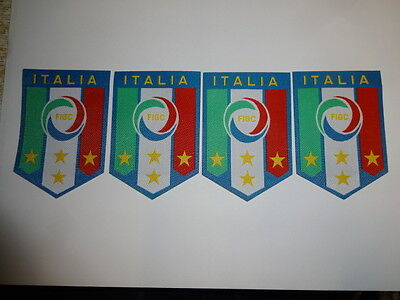 New job lot 4 pieces of Embroidered ITALY ITALIA Iron On Cloth Patch