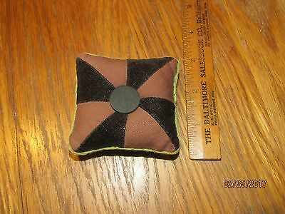 Antique Amish pin cushion pin wheel pattern old sewing pincushion estate