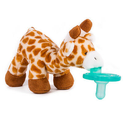 NEW~WubbaNub Silicone Soothie Pacifier~Plush~Baby~0-6 Months~Giraffe