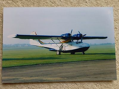 Vintage colour photo of Catalina flying boat