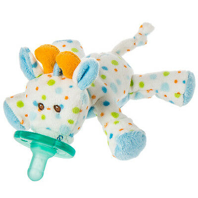 NEW~Mary Meyer WubbaNub Soothie Pacifier~Plush~Baby~0-6 Months~Stretch Giraffe